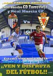 Cartel amistoso Torrevieja-Murcia