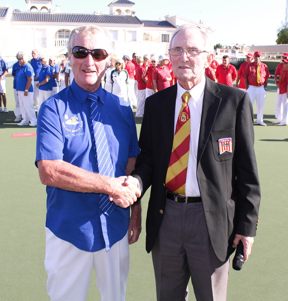 Handover of the rinks by Vic Slater to the National Director Bob Donnelly