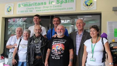 Stopping off at the Samaritans Drop in Centre in Punta Prima