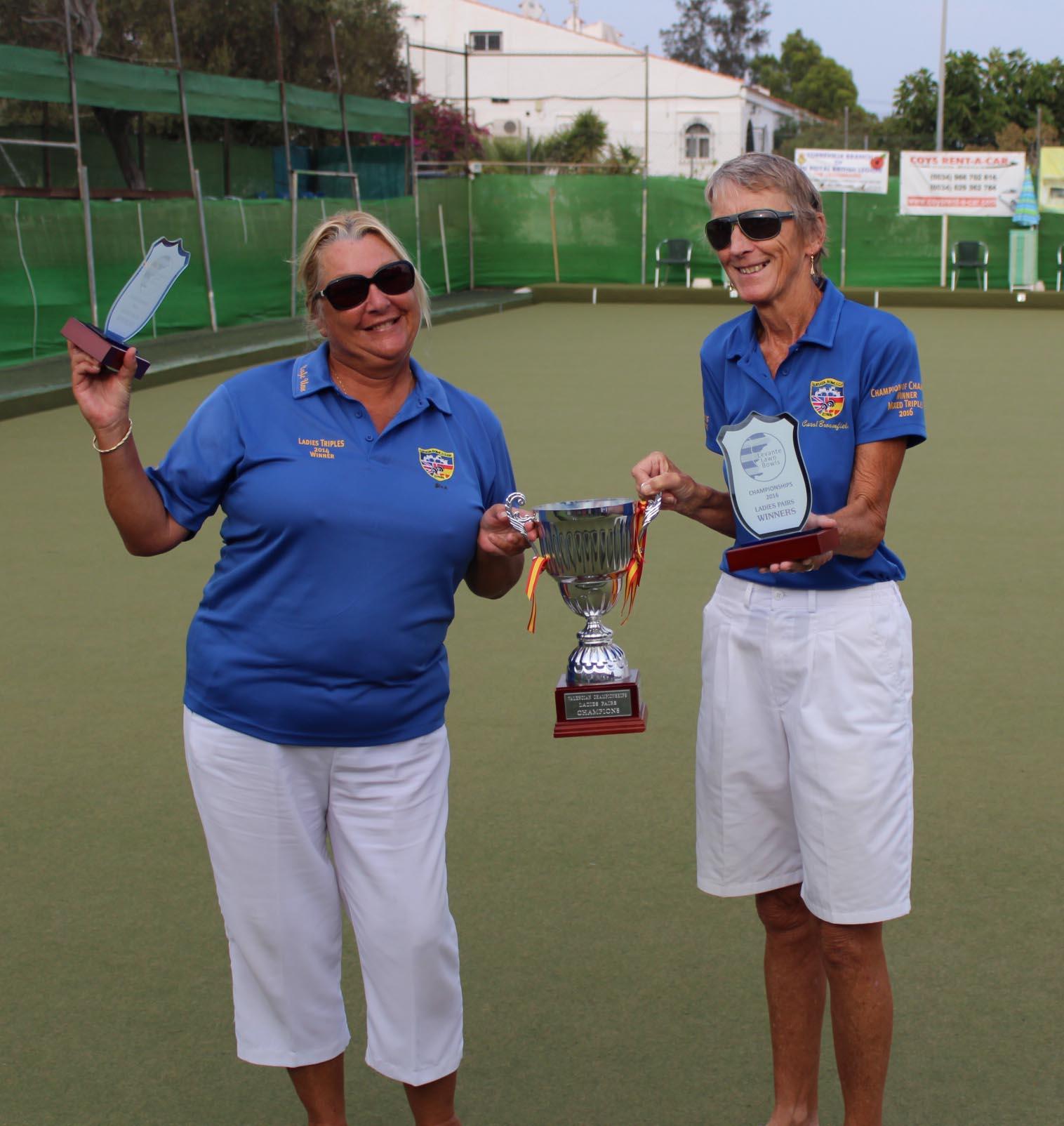 Ladies pairs winners