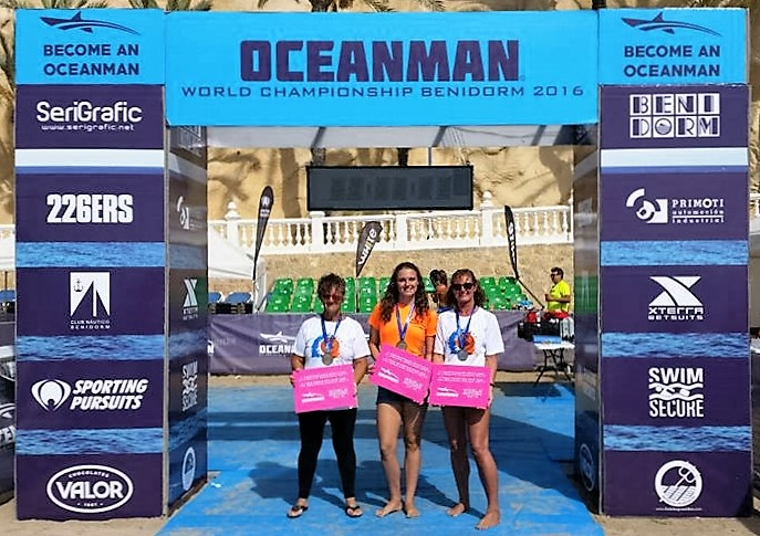 World Oceanman Champions Beth, Zoe and Vicki